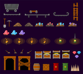 Mining Cave Game Objects