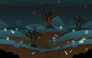 Keuken foto achterwand Chocoladebruin Cemetery Game Background