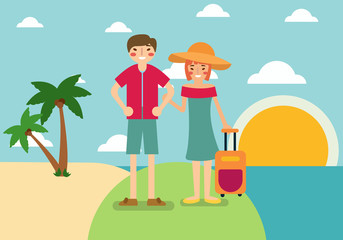 people holiday design flat