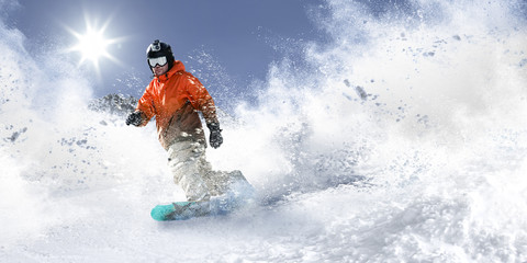 Poster Winter sports winter skier