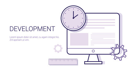 Creativity Business Concept Process Of Creative Development Web Banner With Copy Space Vector Illustration