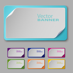 Set of colorful banners. Vector illustration