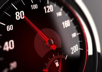 Limitation de vitesse à 80 km/h, Compteur de véhicule