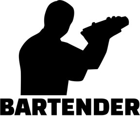 Bartender silhouette with shaker