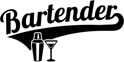 Bartender word retro style