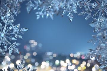 Eiskristall Hintergrund.