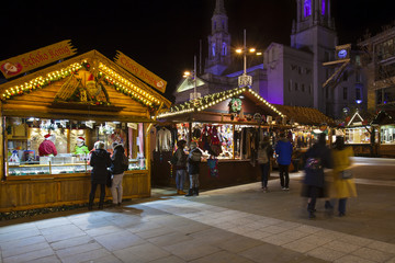 Leeds Christmas Market, England UK