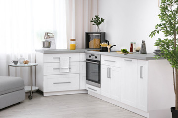 Modern kitchen interior with electric oven