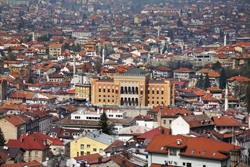 Panoramic view of Sarajevo. Bosnia and Herzegovina