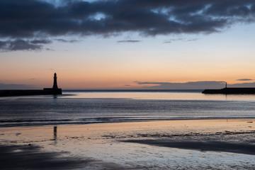 Roker beach at dawn