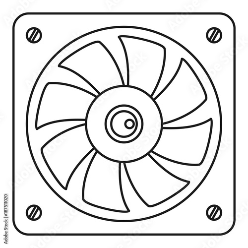 Computer Fan Cooler Icon Outline Style Stock Image And Royalty