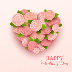 Valentine`s day background. Vector illustration.