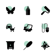 Colorful icons. vector collection filled colorful icons set.