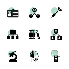 Corporate icons. vector collection filled corporate icons set.
