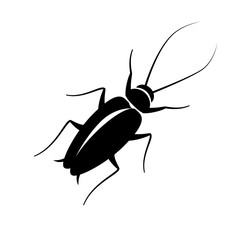 cockroach sign black on white background