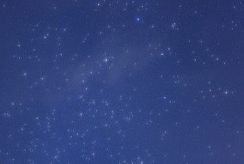 Thin cloud in front of the stars