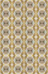 A tangle og shapes inside a kaleidoscope