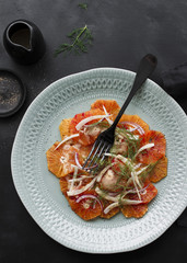 Blood Orange, Red Onion and Fennel Salad