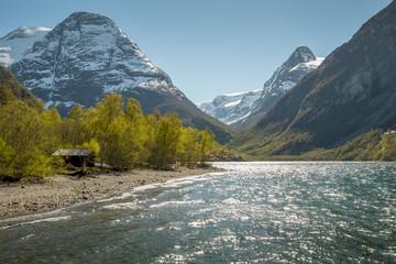 Norwegian landscape in spring