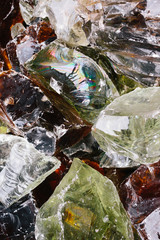 Colored glass stones