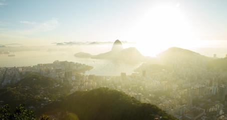 Fototapete - Aerial panorama of Rio de Janeiro, Brazil