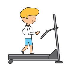 man on a treadmill