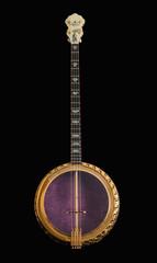 5-string banjos on black background