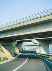 Expressway in sunlight