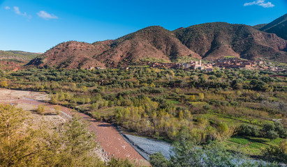 Ourika Valley landscapes, Morocco