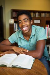 Young man getting tutoring.