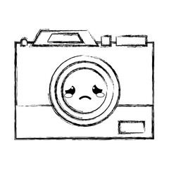 figure crying camera technology kawaii cartoon
