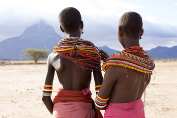 Two girls from Rendille Tribe.