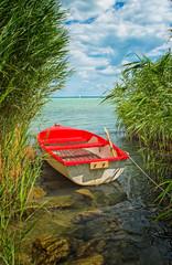 Boat on lake Balaton