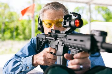 Shooting: Shooting An AR-15 From Sitting Position