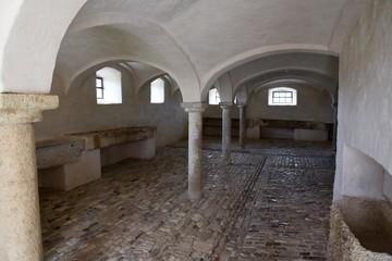 schweinestall in historischen Bauernhaus in Bayern