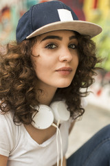 Young skate girl.