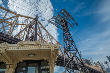 Queensboro Bridge and Rossevelt Island Tramway, NYC