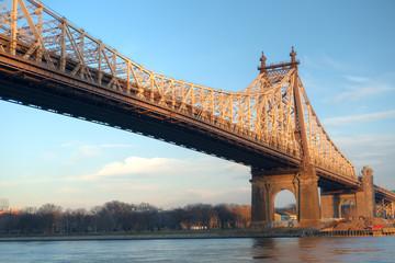 Queensborough Bridge between Roosevelt Island and Long Island City in Queens, NYC