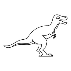 Theropod icon, outline style
