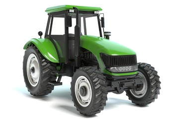3d illustration of a farming tractor