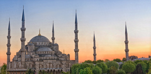 Autocollant pour porte Turquie Sultan Ahmed Mosque in Istanbul. Turkey