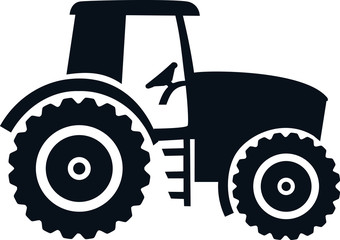 Wall Mural - Farmer tractor drawn black