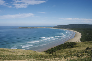 Coast along The Catlins, New Zealand.