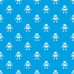 Android robot pattern seamless blue