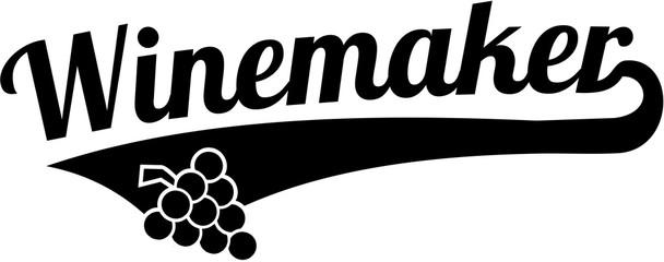Winemaker word retro style
