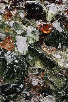 Colored glass stones