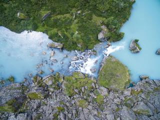 Aerial view of Shavla lakes, Altai