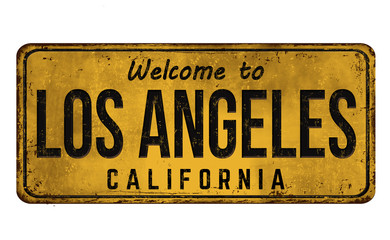 Welcome to Los Angeles vintage rusty metal sign Fototapete