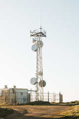 Radio Communications Tower at Point Reyes National Seashore.