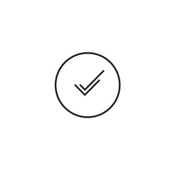 Ok Check Approved Icon Vector
